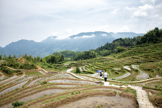 Yunhe rice terraces - fotokunst von Oona Kallanmaa