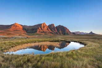 Dirk Steuerwald, Spieglein, Spieglein im See (Lesotho, Afrika)