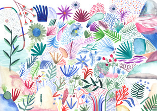 Anja Bartelt, colorful botanicals (Germany, Europe)