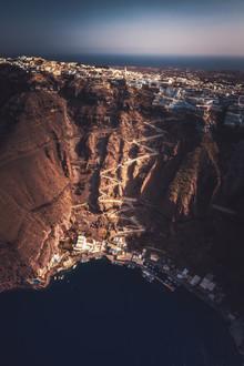 Jean Claude Castor, Griechenland Santorini Caldera Luftaufnahme (Griechenland, Europa)