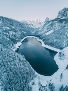 Sebastian 'zeppaio' Scheichl, Snowy lake (Austria, Europe)