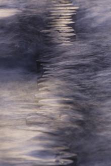 Ostseebuhne in den Wellen - fotokunst von Jens Rosbach