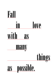 Photocircle , Fall in love with as many things as possible (Deutschland, Europa)