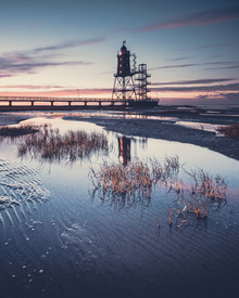 Franz Sussbauer, Historical Lighthouse Obereversand at blue hour (Germany, Europe)