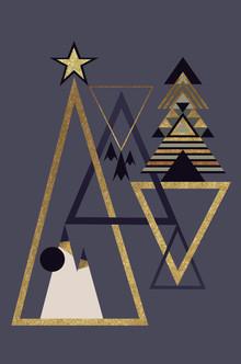 Sabrina Ziegenhorn, abstract christmas blue (Germany, Europe)