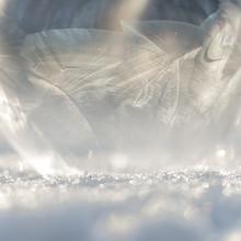 Nadja Jacke, Frozen soap bubble in the sunlight (Germany, Europe)