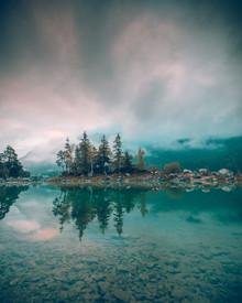 Insel im Eibsee - fotokunst von Franz Sussbauer