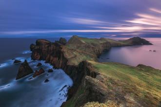 Jean Claude Castor, Madeira Ponta de Sao Lourenco Langzeitbelichtung zum Sonnenaufgang (Portugal, Europa)
