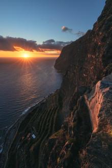 Jean Claude Castor, Madeira Cabo Girao Steilklippe zum Sonnenuntergang (Portugal, Europa)