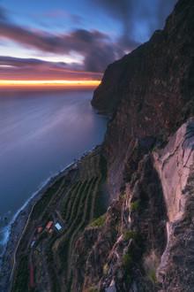 Jean Claude Castor, Madeira Cabo Girao Blaue Stunde (Portugal, Europa)