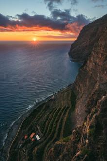 Jean Claude Castor, Madeira Cabo Girao zum Sonnenuntergang (Portugal, Europa)