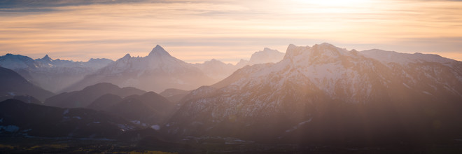 Alpen Panorama - fotokunst von Martin Wasilewski