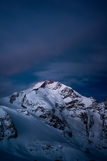 Peter Wey, Piz Bernina at night (Switzerland, Europe)