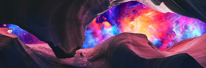 Art Design Works, Grand Canyon with Colorful Space Collage - Panoramic (Bulgarien, Europa)