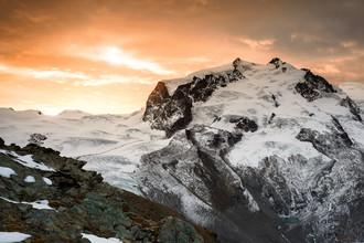 Peter Wey, Monte Rosa bei Sonnenaufgang (Schweiz, Europa)