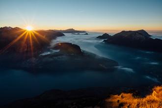 Peter Wey, Sunset from Fronalpstock (Switzerland, Europe)