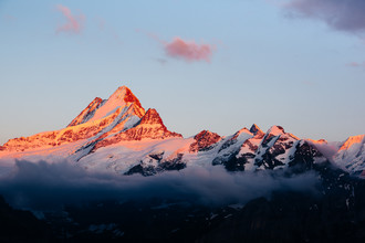 Peter Wey, Schreckhorn at sunset (Switzerland, Europe)