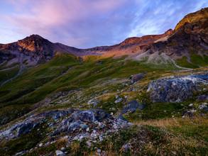 Peter Wey, Sonnenuntergang bei Glacier de Moiry, Ayer, Wallis, Schweiz (Schweiz, Europa)