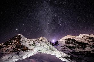 Peter Wey, Eiger Mönch und Jungfrau bei Nacht (Schweiz, Europa)
