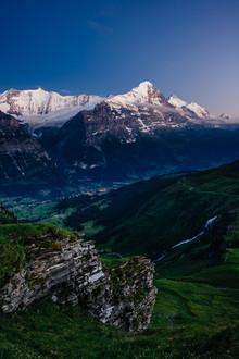 Peter Wey, Eiger at dusk (Switzerland, Europe)