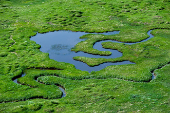 Peter Wey, Small river meandering in alpine Greina Valley (Switzerland, Europe)