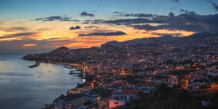 Jean Claude Castor, Madeira Funchal Panorama at Dusk (Portugal, Europe)