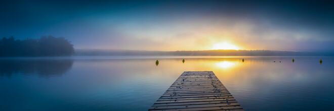 Martin Wasilewski, Sonnenaufgang am See (Deutschland, Europa)