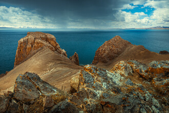 Li Ye, The rocks beside the blue lake (China, Asia)
