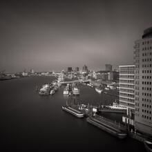 Dennis Wehrmann, Blick auf den Hafen Hamburg von der Elbphilharmonie Plaza (Deutschland, Europa)