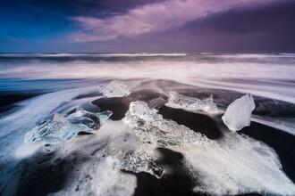 Diamond Beach, Island - fotokunst von Sebastian Warneke
