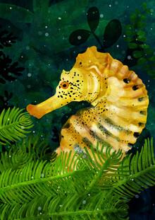 Yellow Seahorse - fotokunst von Katherine Blower