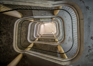 Christopher Prenzel, einsame Treppe (Deutschland, Europa)