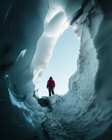 Ivan Bandic, the glacier entrance (Austria, Europe)