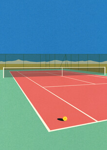 Rosi Feist, Tennis Court In The Desert (Germany, Europe)
