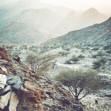 Franz Sussbauer, hills and haze III (Oman, Asia)