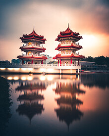 Dimitri Luft, pagoda twins (Singapore, Asia)
