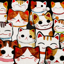 Lucky Cats - fotokunst von Katherine Blower