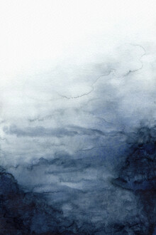 Cristina Chivu, Indigo Abstract Painting   No.2 (United Kingdom, Europe)