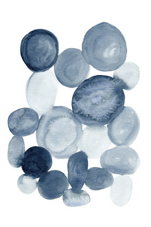 Cristina Chivu, Pebbles Watercolor Painting (Großbritannien, Europa)