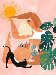 Tropical Yoga - fotokunst von Uma Gokhale