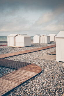 Eva Stadler, Zickzack am Strand (Frankreich, Europa)