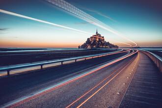 Franz Sussbauer, Brücke zum Mont Saint Michel (Frankreich, Europa)