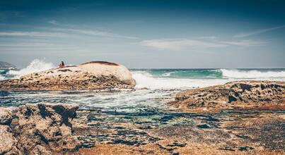 Eva Stadler, Auf den Steinen, an den Wellen (Südafrika, Afrika)