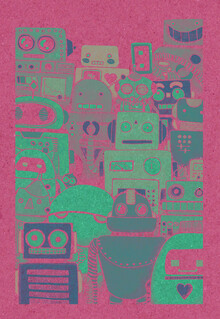 Katherine Blower, Robots Screen print (United Kingdom, Europe)