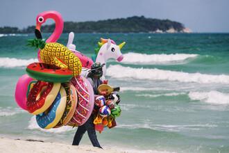 Franzel Drepper, Thailändischer Strandverkäufer auf Koh Samui (Thailand, Asien)