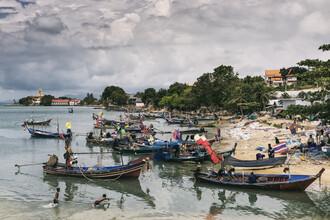 Franzel Drepper, Fischerboote im Hafen auf Koh Samui, Thailand (Thailand, Asien)