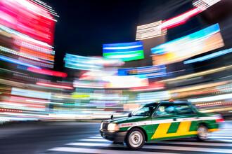 Jan Becke, Tokyo taxi at night (Japan, Asia)