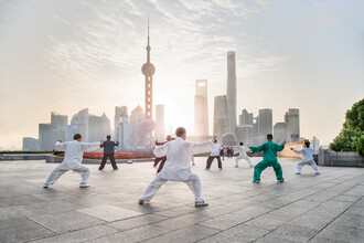 Jan Becke, Tai Chi am Bund in Shanghai (China, Asien)