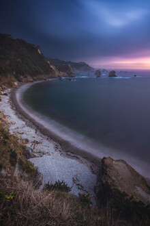 Jean Claude Castor, Asturien Playa de Silencio Strand zum Sonnenuntergang (Spanien, Europa)