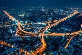 Jan Becke, Luftaufnahme von Bangkok bei Nacht (Thailand, Asien)